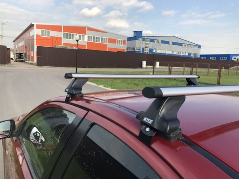 Модельный багажник с креплением за дверной проем аэродинамические дуги 120 см.