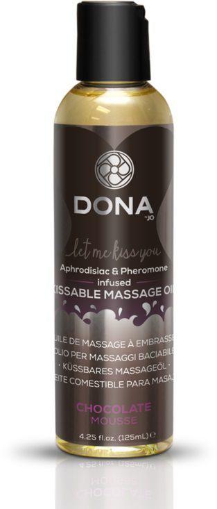 Массажные масла и свечи: Массажное масло DONA Chocolate Mousse с ароматом шоколадного мусса - 125 мл.