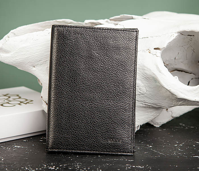 BC217-1 Кожаная обложка для авто документов и карт «Santini», черная фото 06