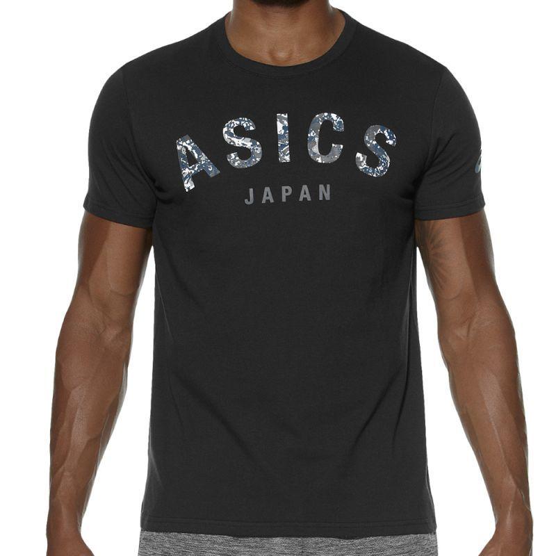 Мужская футболка с принтом Asics Camou Logo SS Top (131529 0904) черная фото