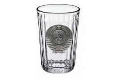 Граненый стакан «Советский» с барельефом «Герб СССР»