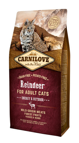 Carnilove Cat Energy & Outdoor северный олень