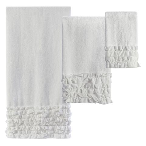 Полотенце 64х127 Creative Bath Ruffles белое