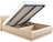 Кровать ОЛИМПИЯ-1400 с подсветкой и подъемным механизмом