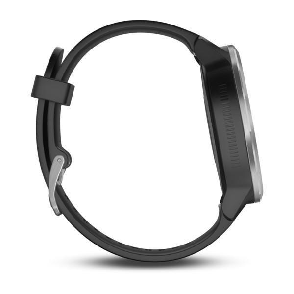 Garmin Vivoactive 3 серебристые с черным ремешком