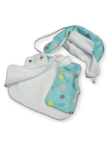 Зимний комплект - Бирюзовый. Одежда для кукол, пупсов и мягких игрушек.