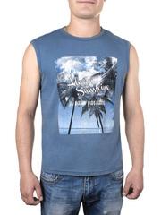 17604-2 футболка мужская, темно-серая