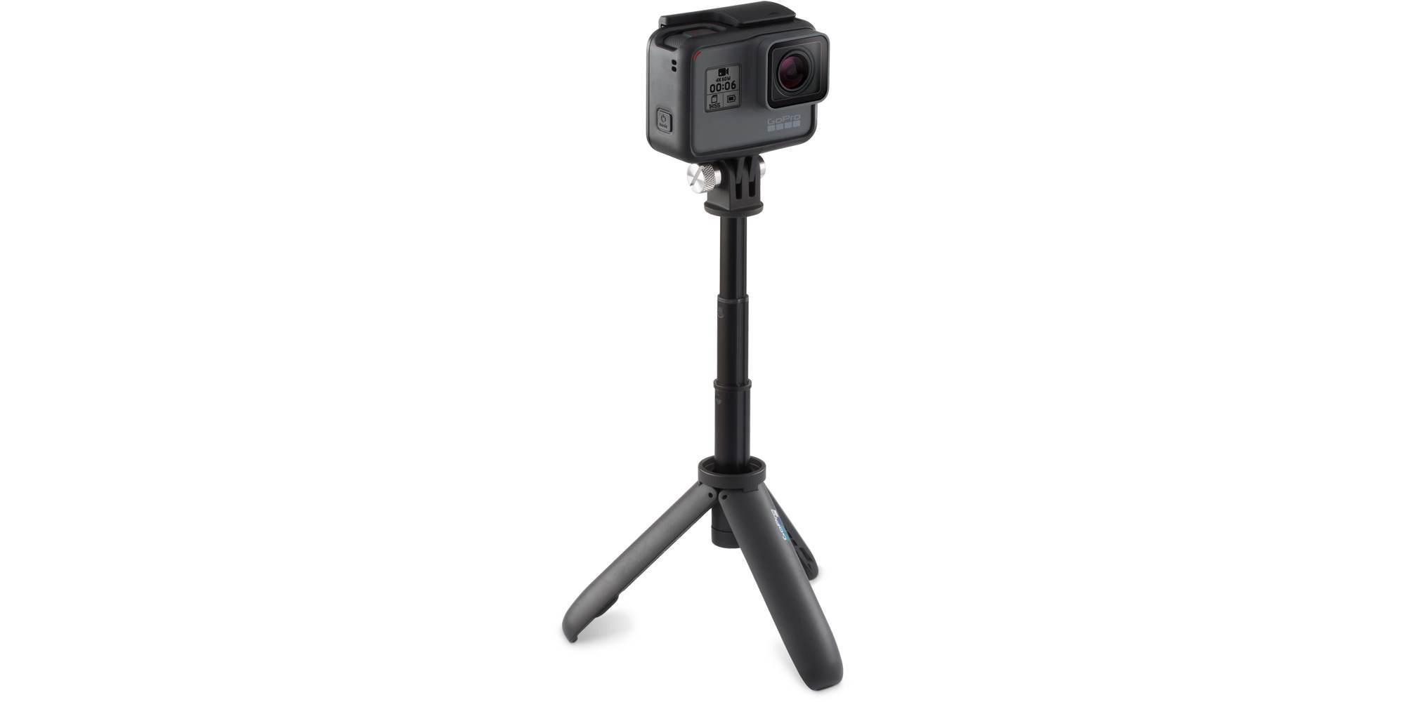 Мини монопод-штатив GoPro Shorty (AFTTM-001) с камерой на треноге