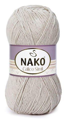 Пряжа Nako Calico Simli серо-бежевый 1087