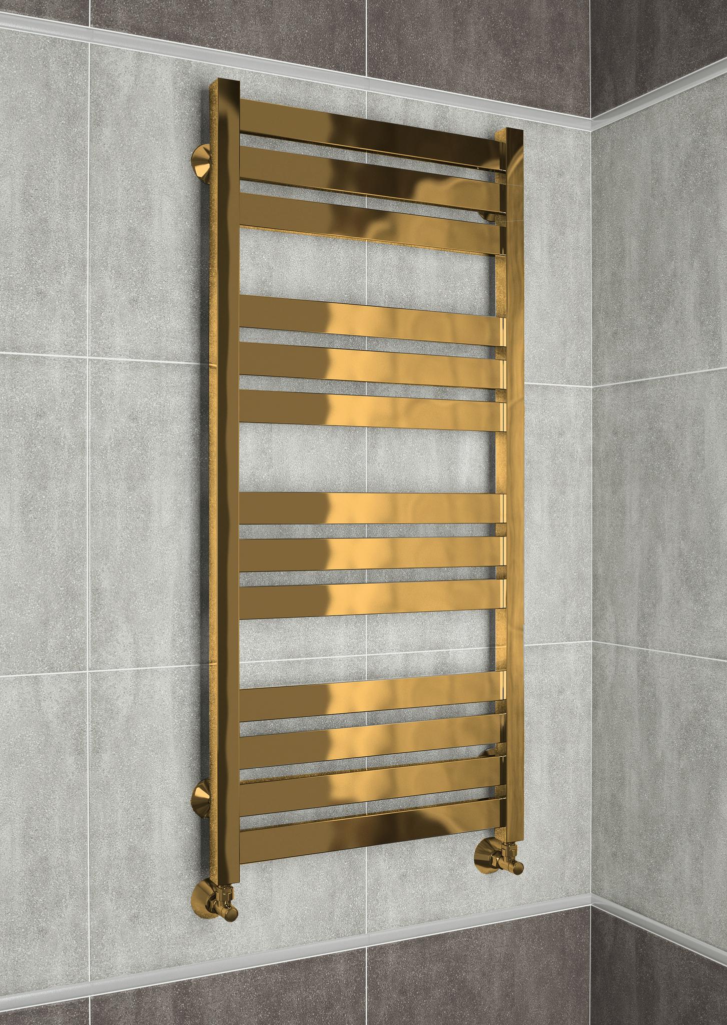 Latte Bronze - бронзовый дизайн полотенцесушитель с квадратными вертикалями.