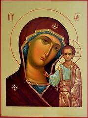 Казанская Божия Матерь. Икона на доске.
