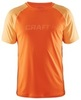 Мужская футболка для бега Craft Prime Run 1902497-2576 оранжевая