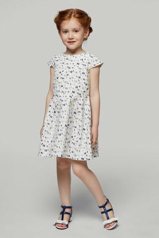 Платье белое с рисунком