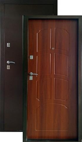 Дверь входная ЗСД Сибирь Сибирь-Лайт металл/МДФ, 2 замка, 1,2 мм  металл, (медь+итальянский орех)