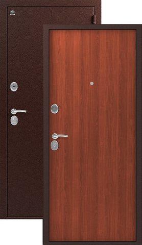 Дверь входная Сибирь S-1, 2 замка, 1 мм  металл, (медь+итальянский орех)