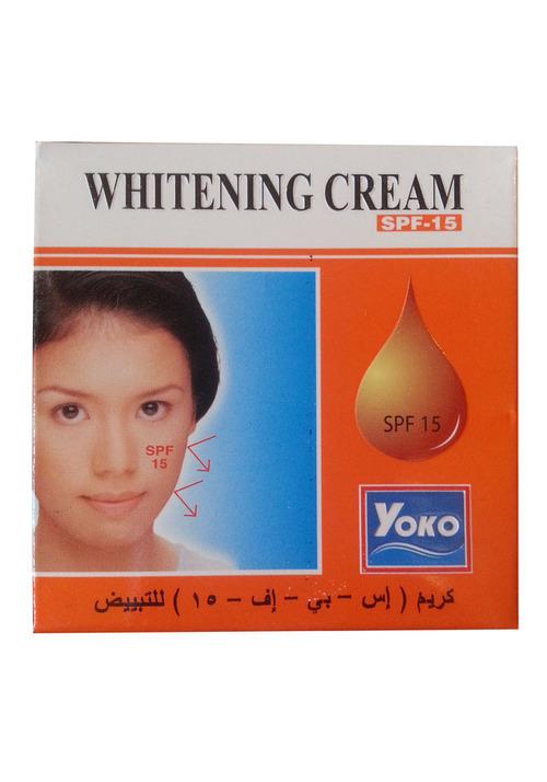 Yoko Отбеливающий крем с защитой от солнца Whitening Cream SPF-15, 4 г