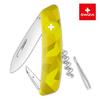 Швейцарский нож SWIZA C01 Camouflage, 95 мм, 6 функций, желтый