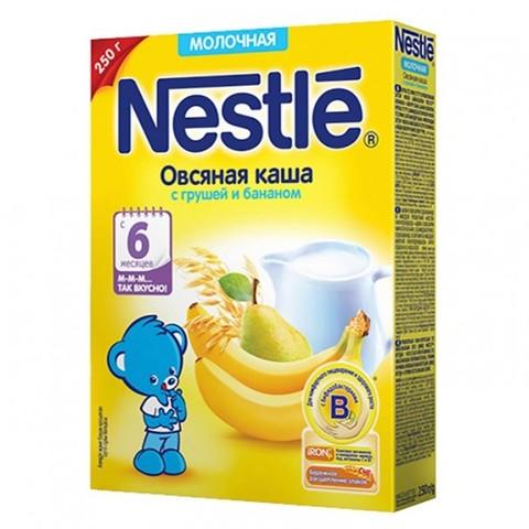Nestlé® Молочная овсяная каша с грушей и бананом 250гр