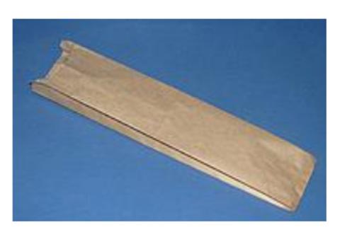 Пакет для багета 120х40(30)х460 мм бурый