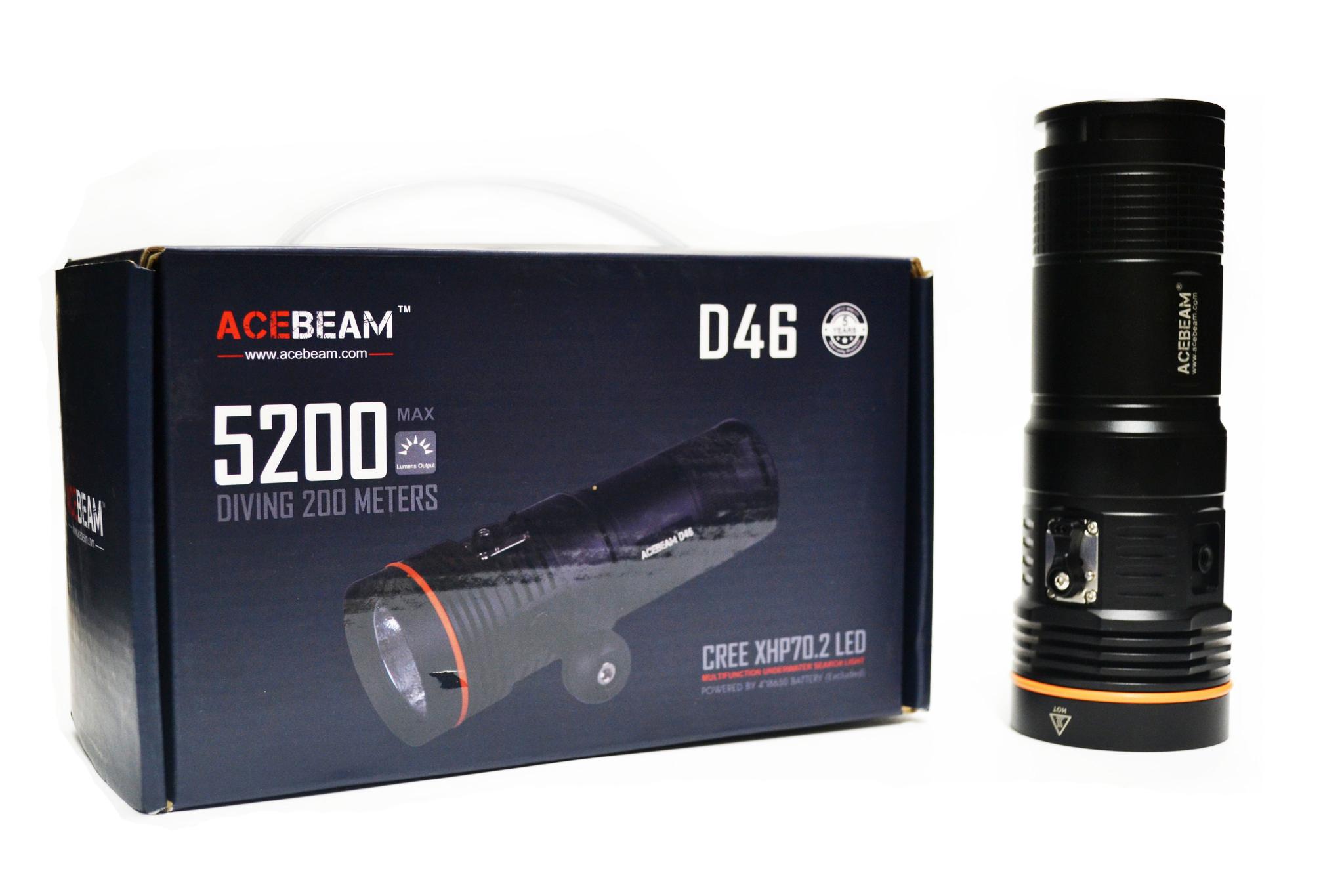 Фонарь Acebeam D46, 7 режимов, 5200 люмен