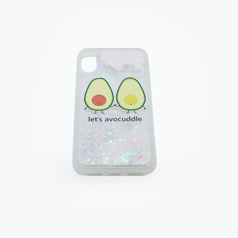 Чехол Casetify Glitter Lets Avocuddle IPhone X