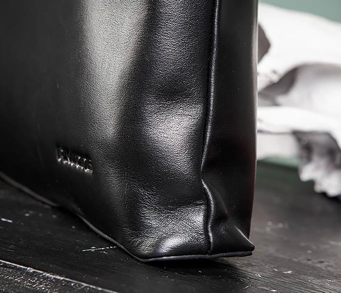 BAG486-1 Деловая кожаная мужская сумка с ремнем на плечо фото 04