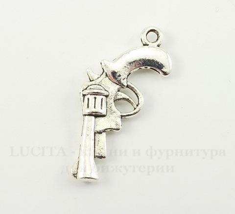 """Подвеска """"Револьвер"""" (цвет - античное серебро) 30х15 мм"""