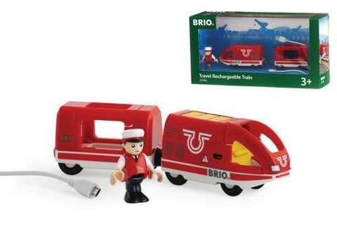 33746 BRIO Пассажирский поезд с машинистом и зарядкой от USB