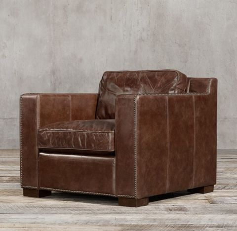Collins Leather Chair With Nailheads