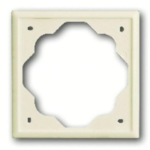 Рамка на 1 пост. Цвет Кремовый глянцевый. ABB(АББ). Impuls(Импульс). 1754-0-4505
