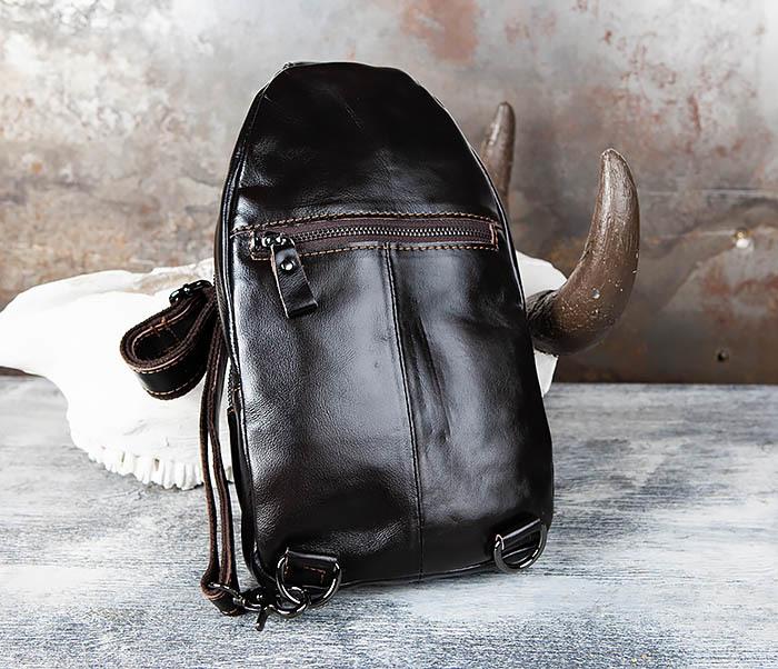 BAG446-1 Рюкзак сумка с крокодилом с одной лямкой через плечо фото 06