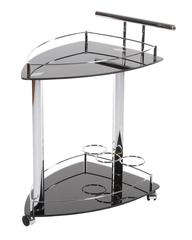 VT-S-07 Сервировочный столик — Хром/чёрный (MK-2335)