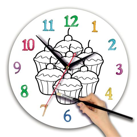 """часы раскраска для детей """"Кексы"""" - купить оптом от ..."""