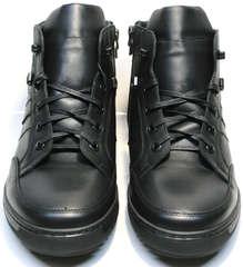 Черные ботинки на шнуровке мужские зимние Ikoc 1608-1 Sport Black.