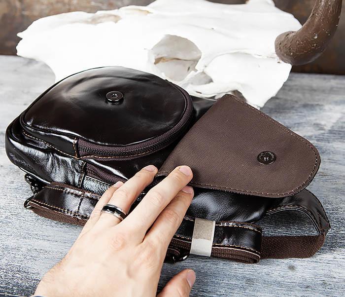 BAG446-1 Рюкзак сумка с крокодилом с одной лямкой через плечо фото 07