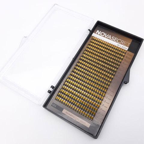 """Ресницы для наращивания NOVASEСRET ultimate черные, 3-D (w-тип), изгиб """"D mix"""""""