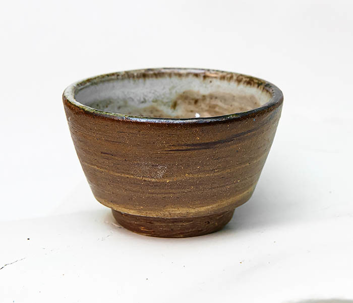 CUP109 Глиняная пиала ручной работы фото 03
