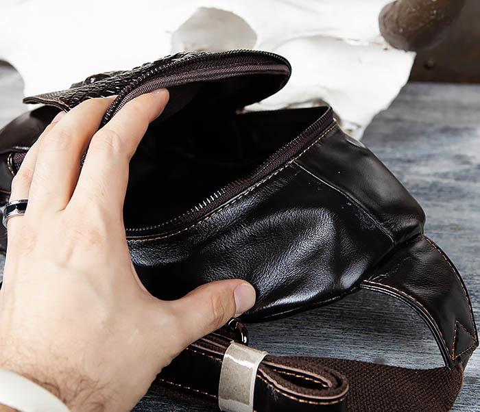 BAG446-1 Рюкзак сумка с крокодилом с одной лямкой через плечо фото 08
