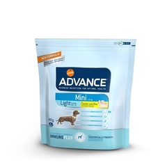 Корм для собак малых пород, Advance Mini Light, с курицей и рисом, контроль веса