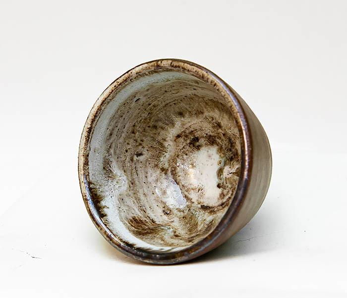 CUP109 Глиняная пиала ручной работы фото 04