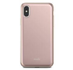 Чехол Moshi  iGlaze for iPhone XS/X розовый, прочный
