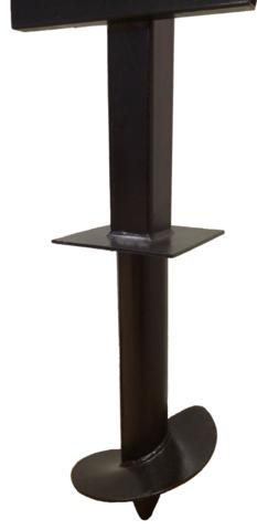 Столб 3,5 метра для забора комбинированный 57/60х60