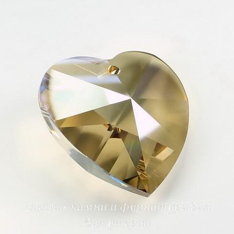 6228 Подвеска Сваровски Сердечко Crystal Golden Shadow (40 мм) ()