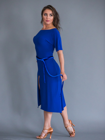 Платье для танцев с поясом арт. 222
