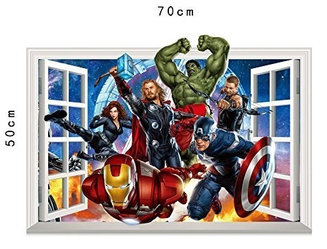 Мстители 3D наклейка Главные герои — Avengers