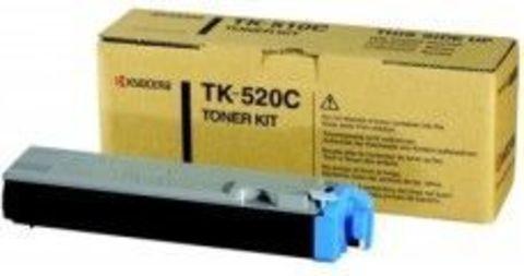 Kyocera TK-520C - Тонер-картридж для принтеров Kyocera FS-C5015N. Ресурс 4000 страниц.