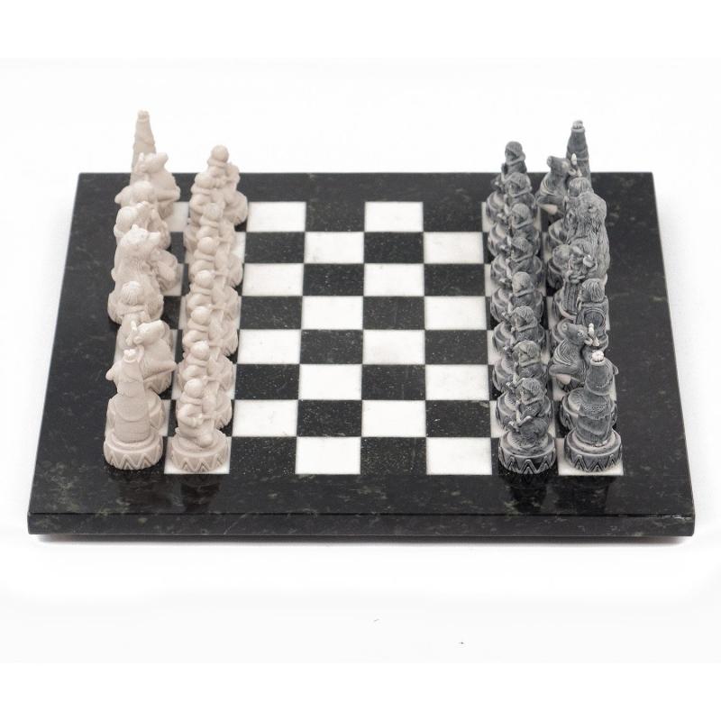 Шахматы «Северные народы» змеевик, мрамор от 14 690 руб
