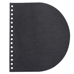 Клапан для сумочки кожаный черный матовый
