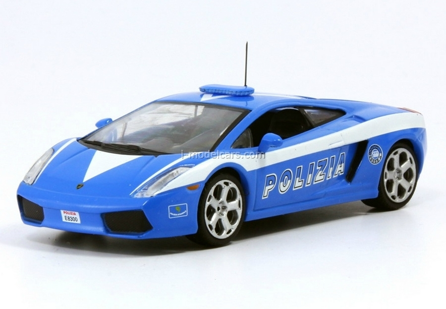 Model Cars Lamborghini Gallardo Police Italy 1 43 Deagostini World S