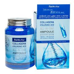 Farmstay Collagen & Hyaluronic Acid All-In-One Ampoule - Многофункциональная ампульная эссенция с гиалуроновой кислотой и коллагеном